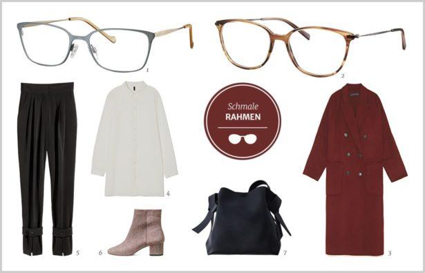 Schlichte Brillen und Styling Outfit