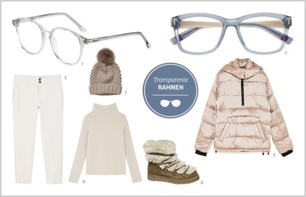 Schlichte transparente Brillen und Styling Tipps
