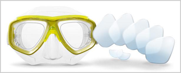 Schwimm- und taucherbrillen Korrektionsgläser und Nahsichtlinsen