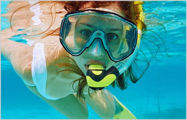 Schwimmbrillen Taucherbrille Schnorcheln Salzwasser