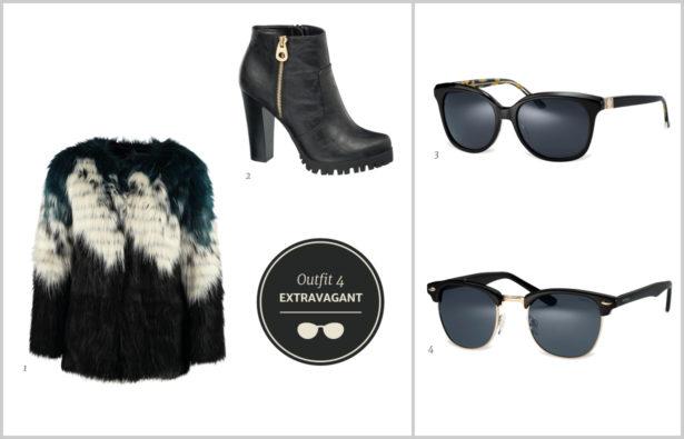 Sonnenbrillen Winterbrillen Extravagante schwarze Sonnenbrillen Outfit 4