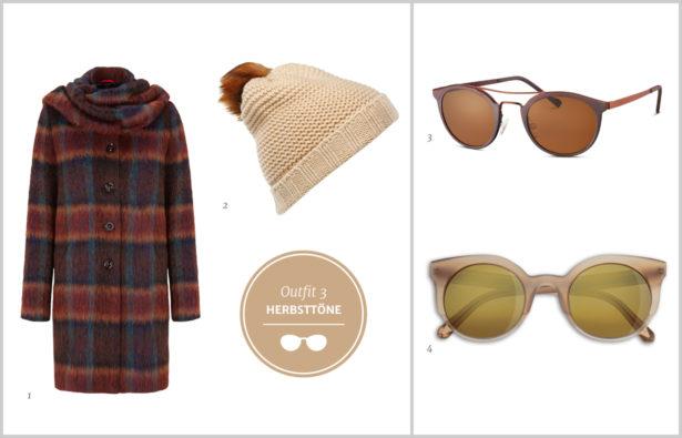 Sonnenbrillen Winterbrillen Sonnenbrillen Herbsttöne Outfit 3