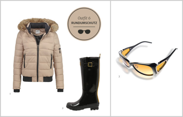 Sonnenbrillen Winterbrillen Sonnenbrillen mit Rundumschutz Outfit 6