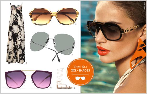 Sonnenbrillentrends 2016 groß, bunt, retro