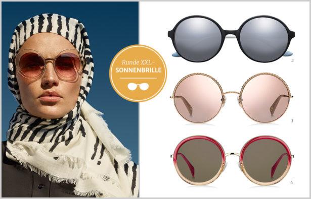 Sonnenbrillentrends 2017 runde XXL-Sonnenbrillen