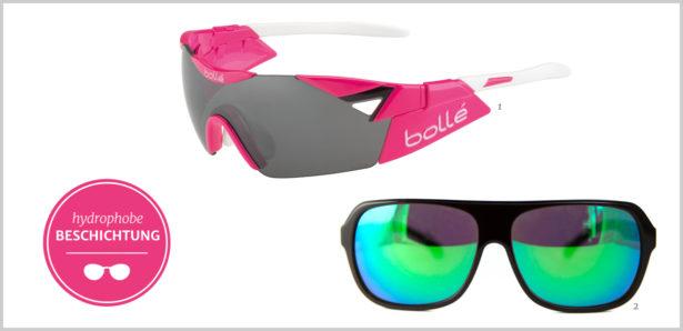 Sport-Sonnenbrillen hydrophobe Beschichtung