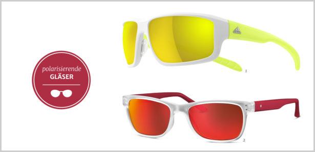 Sport-Sonnenbrillen polarisierende Gläser
