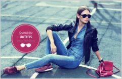 Sportliche Outfits modische Brillen Herbst 2017 Frauen Brille