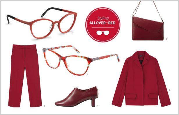 Herbsttrend Rot Brillen