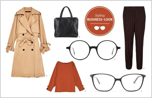 Schwarze Brille Business-Look 2017