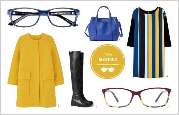 Herbsttrend Colorblocking Brillen