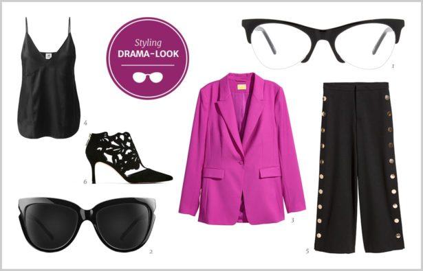 Brille in Schwarz für Frauen