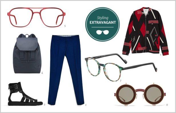 Herrenbrille Styling extravagant