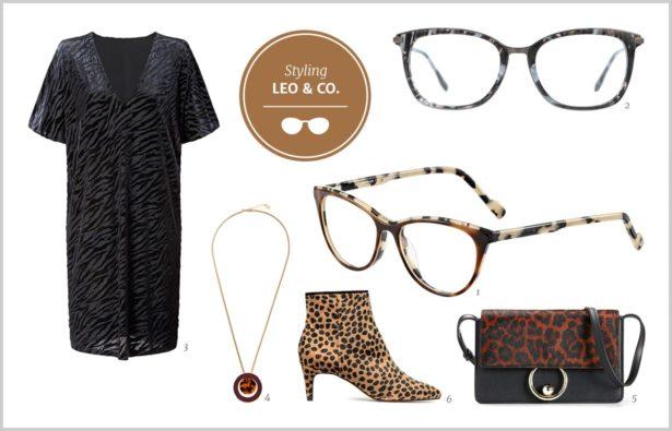 Herbsttrend Leopardenmuster Brillen