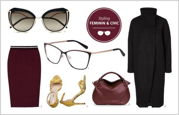 Schwarze Brille feminin und elegant 2017