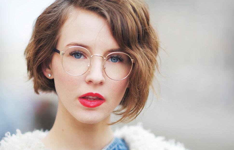 Brillen in schlichtem Design