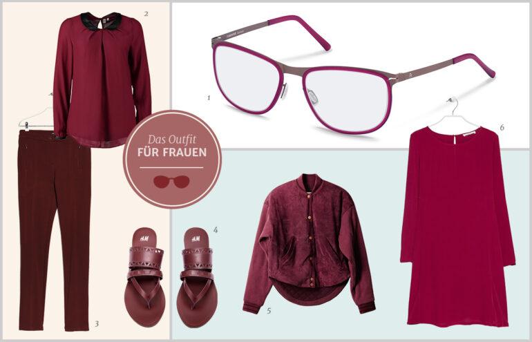 Trendfarbe 2015: Marsala | Outfit für Frauen