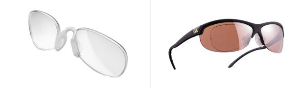 Skibrillen und andere Sportbrillen mit Clips ermöglichen das Einsetzen der passenden optischen Gläser. Bilder: adidas eyewear