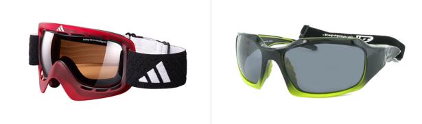 Stylische Goggles sind der Hingucker auf der Piste; Sportbrille mit elastischem Kopfband, Bilder: adidas eyewear, Nigura Metzler / Dunkerbeck Eyewear