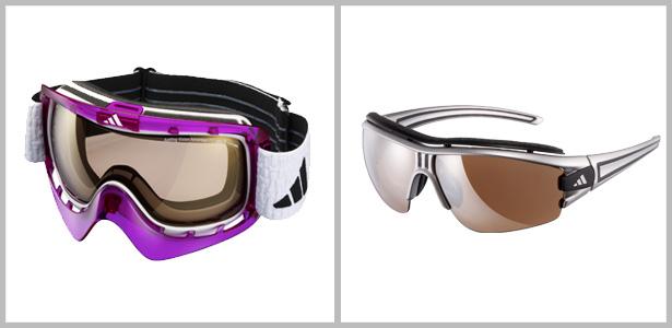 Maskenbrillen eignen sich für rasante Wintersportarten wie Ski oder Snowboard – für Langlauf oder Wandertouren im Schnee sind Sportbrillen besser geeignet. Bilder: Adidas eyewear
