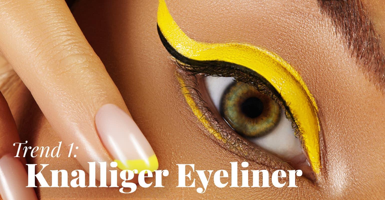 Trend 1: Knalliger Eyeliner