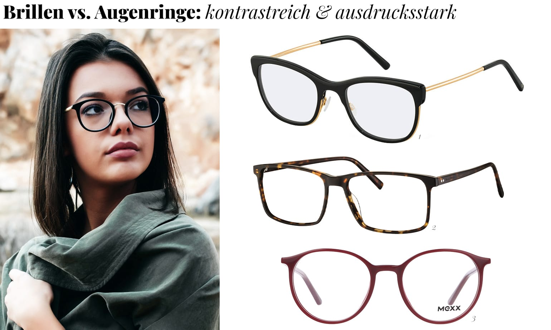 Brille Falten Augenringe