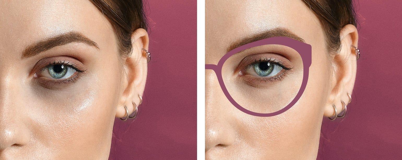 Brille gegen Augenringe