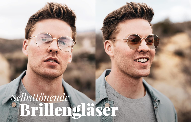 Brillen mit selbsttönenden Gläsern