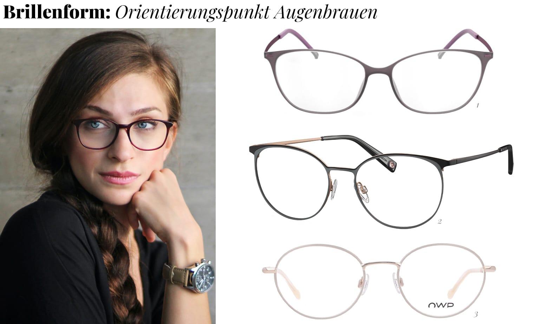 Brillenform passend zu Augenbrauen