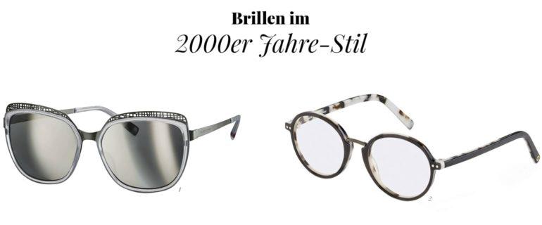 Brillenmode im 2000er Stil