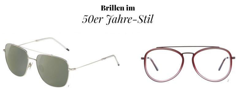 Brillen im 50er Jahre-Stil