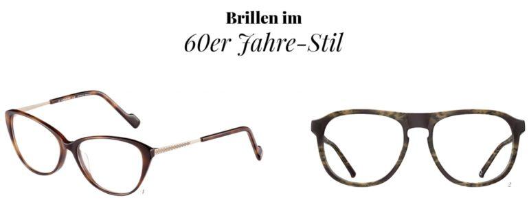 Brillenmode im 60er Jahre-Stil
