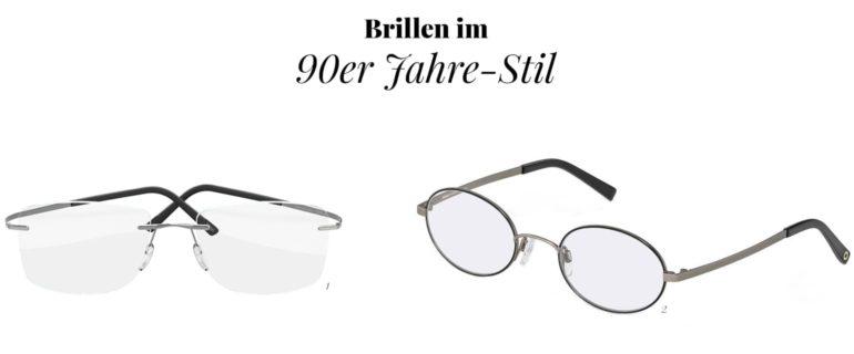 Brillenmode im 90er Jahre-Stil