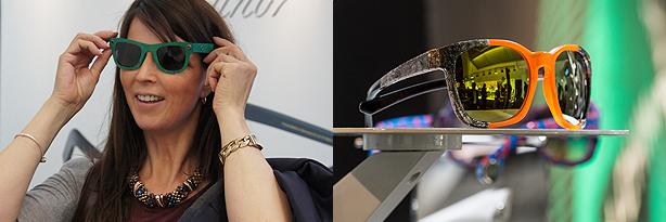 Kerstin Kruschinski testet Pappbrillen mit UV-Schutz, Recyle-Brille, Bilder: KGS und GHM