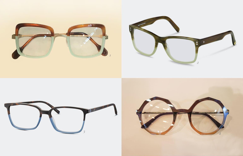 Brillentrends 2019 zweifarbige Brillen