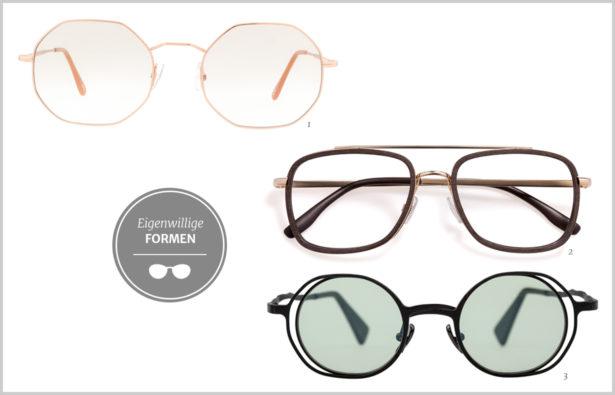 Detailverliebt – Brillen mit eigenwilligen Formen