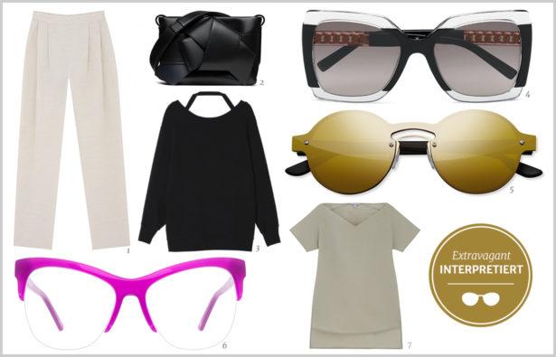 Schlichtes Outfit extravagant interpretiert