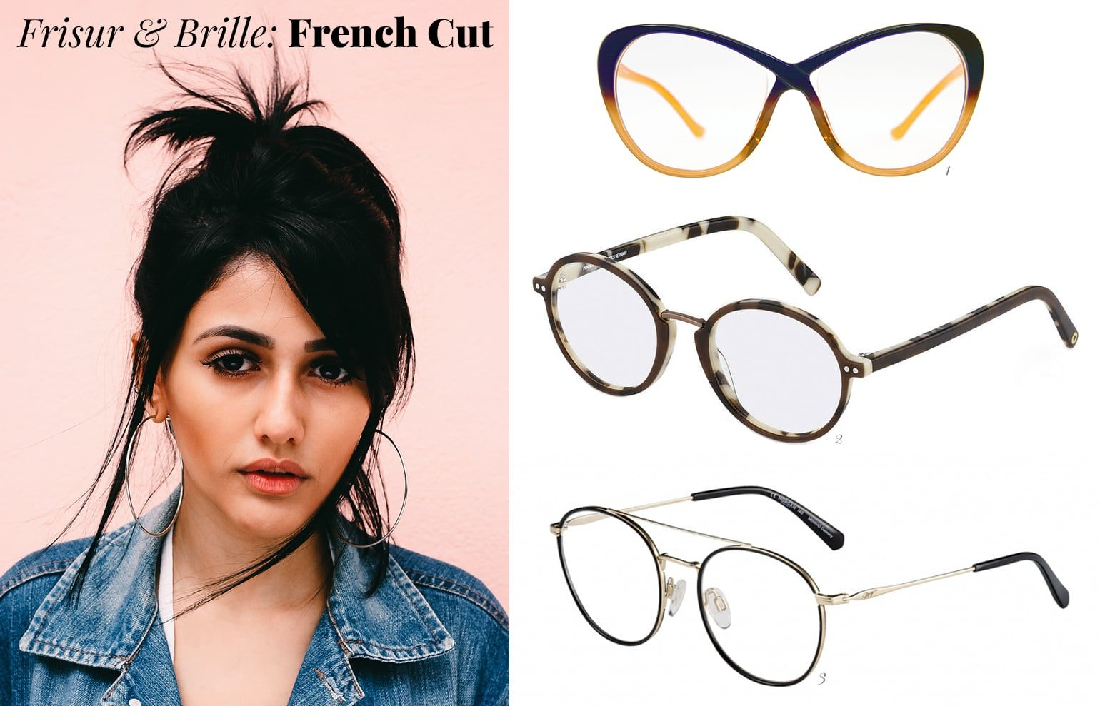 French Cut und Brille