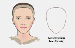 Gesichtsform bestimmen: herzförmiges Gesicht