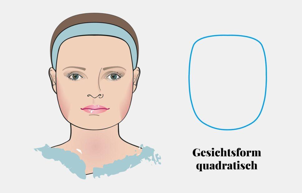 Gesichtsform bestimmen: quadratisches Gesicht
