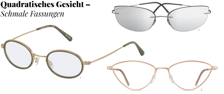 Schmale Brillen