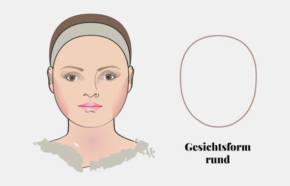 Gesichtsform bestimmen: rundes Gesicht