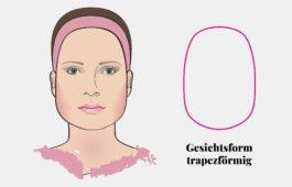 Gesichtsform trapezförmiges Gesicht