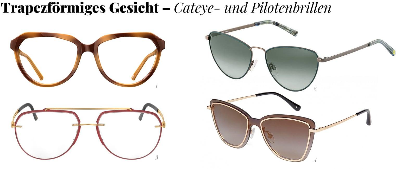 Cateye- und Pilotenbrillen