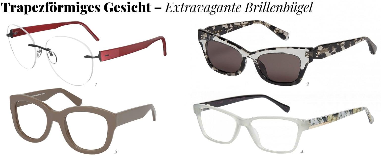 Extravagante Brillenbügel