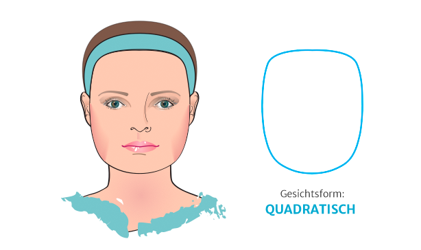 breites Gesicht: Bild von quadratischer Gesichtsform