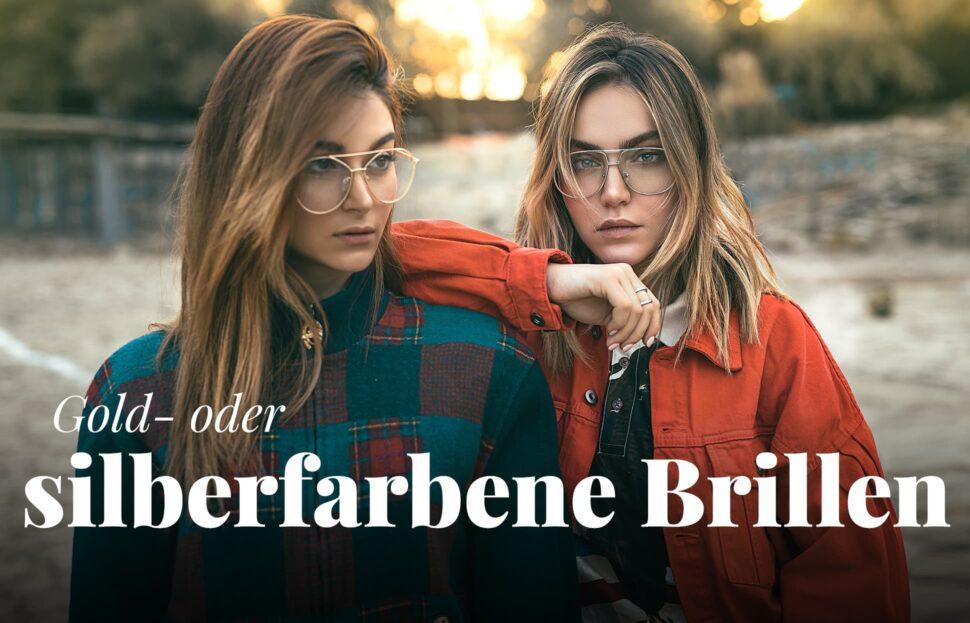 Gold- oder silberfarbene Brillen 2021
