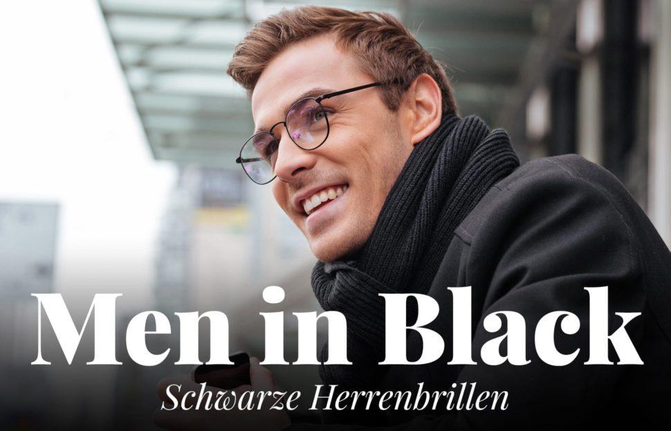 schwarze Brillen für Männer