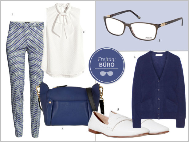 Schick und trotzdem bequem: Outfit fürs Büro. Bilder: 1-2 H&M, 3 Joop, 4 Equipment, 5 Zara, 6 See by Chloé