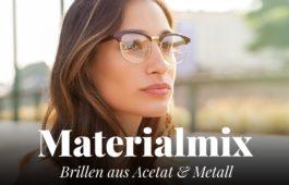 Brillen aus Acetat und Metall